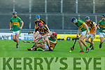 Action from Abbeydorney v Lixnaw in the Senior Hurling Championship quarter final.
