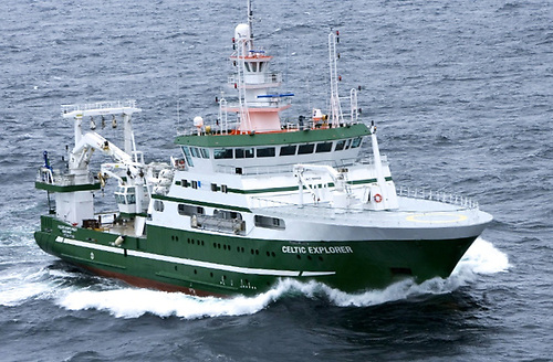 RV Celtic Explorer is one of the Irish Marine Institute's Galway-based oceanographic research ships