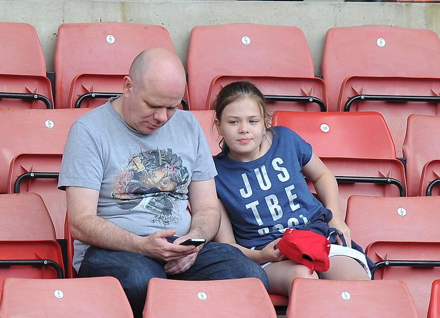 Fans<br /> <br /> Photographer Dave Howarth/CameraSport<br /> <br /> Football - Football Friendly - Barnsley v Middlesbrough - Wednesday 29th July 2015 - Oakwell - Barnsley<br /> <br /> &copy; CameraSport - 43 Linden Ave. Countesthorpe. Leicester. England. LE8 5PG - Tel: +44 (0) 116 277 4147 - admin@camerasport.com - www.camerasport.com
