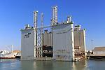 Floating dock Mar del Aneto in the port area of Puerto de Santa de Maria, Cadiz province,, Spain