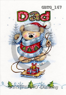 Theresa, CHRISTMAS ANIMALS, paintings(GBTG167,#XA#) Weihnachten, Navidad, illustrations, pinturas