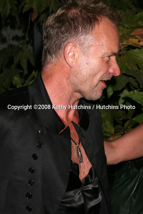Sting  arriving at the Oceana Annual Gala at a private home in Pacific Palisades, CA on.October 18, 2008.©2008 Kathy Hutchins / Hutchins Photo...                .