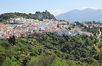 Hill top village of Gaucin, Malaga province, southern Spain