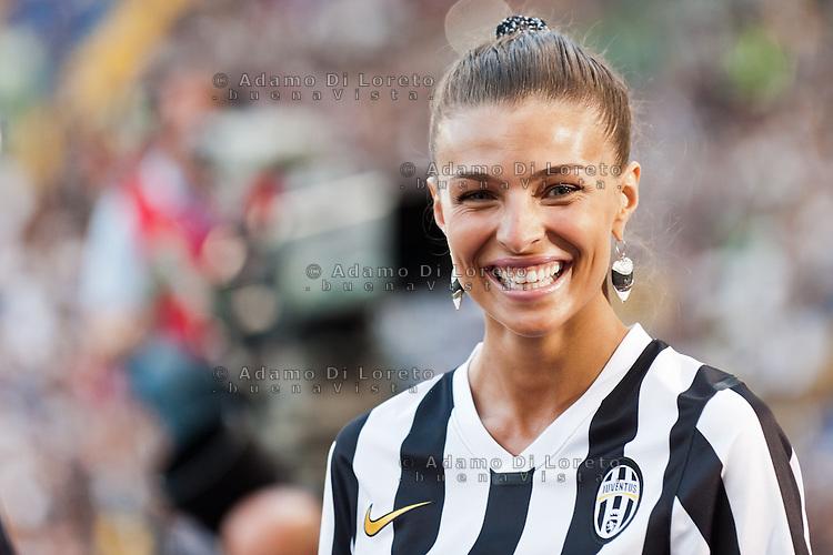 Juventus beat Lazio 4-0 in the Italian Supercoppa final match in Rome, Italy, on August 18, 2013. In the photo: Cristina Chiabotto. Photo: Adamo Di Loreto/BuenaVista*photo
