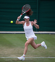 AJLA TOMLJANOVIC (CRO)<br /> <br /> The Championships Wimbledon 2014 - The All England Lawn Tennis Club -  London - UK -  ATP - ITF - WTA-2014  - Grand Slam - Great Britain -  24th June 2014. <br /> <br /> &copy; AMN IMAGES