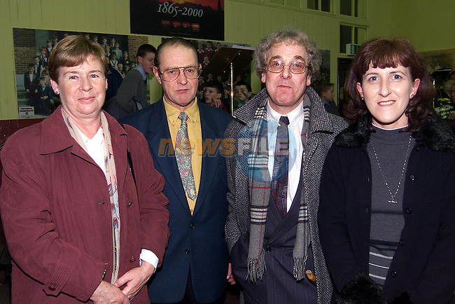 Peter and Kitty Campbell, Congress Avenue, Oliver O'Sullivan, teacher and Rosario McAleenan, Priest Lane at the launch of 'The Annals of St. Mary's'.Picture: Paul Mohan/Newsfile