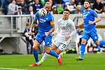 11.05.2019, PreZero Dual Arena, Sinsheim, GER, 1. FBL, TSG 1899 Hoffenheim vs. SV Werder Bremen, <br /> <br /> DFL REGULATIONS PROHIBIT ANY USE OF PHOTOGRAPHS AS IMAGE SEQUENCES AND/OR QUASI-VIDEO.<br /> <br /> im Bild: Kevin Vogt (TSG Hoffenheim #22) gegen Milot Rashica (SV Werder Bremen #11)<br /> <br /> Foto &copy; nordphoto / Fabisch