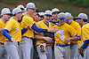 Kellenberg teammates celebrate after their 5-3 win over St. Dominic in the CHSAA varsity baseball semifinals at Farmingdale State College on Tuesday, May 24, 2016.