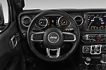 Car pictures of steering wheel view of a 2019 Jeep Wrangler Unlimited Sahara 5 Door SUV