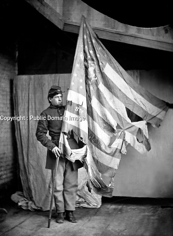 Flag of the Pennsylvania Infantry.  Mathew Brady Collection. (Army)<br /> Exact Date Shot Unknown<br /> NARA FILE #:  111-B-446<br /> WAR & CONFLICT BOOK #:  150