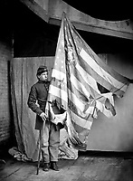 Flag of the Pennsylvania Infantry.  Mathew Brady Collection. (Army)<br /> Exact Date Shot Unknown<br /> NARA FILE #:  111-B-446<br /> WAR &amp; CONFLICT BOOK #:  150