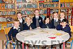 Pupils from Scoil Naomh Eirc, Baile na nGall, on their first day at school. Sitting from left: Conall Ó Sé, Niamh Ní Shé, Caoimhe Carr, Chloé Edward. Standing from left: Laura Nic Gearailt, Kayla Ní Néill, Éilís Nic Gearailt, Hannah Grummell Ní Fhearghaill.