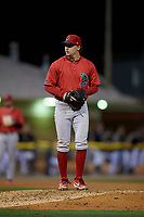Lowell Spinners pitcher Chris Murphy (28) during a NY-Penn League Semifinal Playoff game against the Batavia Muckdogs on September 4, 2019 at Dwyer Stadium in Batavia, New York.  Batavia defeated Lowell 4-1.  (Mike Janes/Four Seam Images)