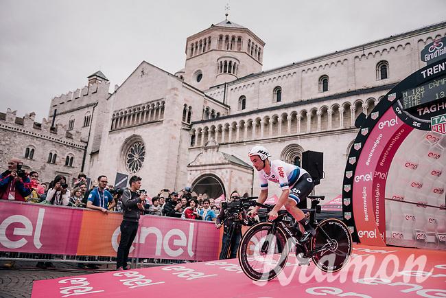 European TT champion Victor Campenaerts (BEL/Lotto-Soudal) at the start of the iTT<br /> <br /> stage 16: Trento – Rovereto iTT (34.2 km)<br /> 101th Giro d'Italia 2018