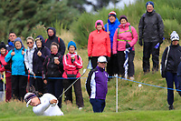 Angel Yin of Team USA on the 2nd during Day 2 Fourball at the Solheim Cup 2019, Gleneagles Golf CLub, Auchterarder, Perthshire, Scotland. 14/09/2019.<br /> Picture Thos Caffrey / Golffile.ie<br /> <br /> All photo usage must carry mandatory copyright credit (© Golffile | Thos Caffrey)