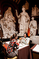 Dining at the Museo Atelier Canova Tadolini, near the Spanish Steps, Rome, Italy