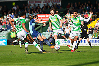 Randell Williams of Wycombe Wanderers shoots and scores the first goal during Yeovil Town vs Wycombe Wanderers, Sky Bet EFL League 2 Football at Huish Park on 14th April 2018