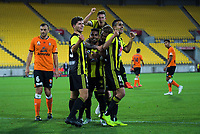 during the A-League football match between Wellington Phoenix and Brisbane Roar at Westpac Stadium in Wellington, New Zealand on Saturday, 22 December 2018. Photo: Dave Lintott / lintottphoto.co.nz