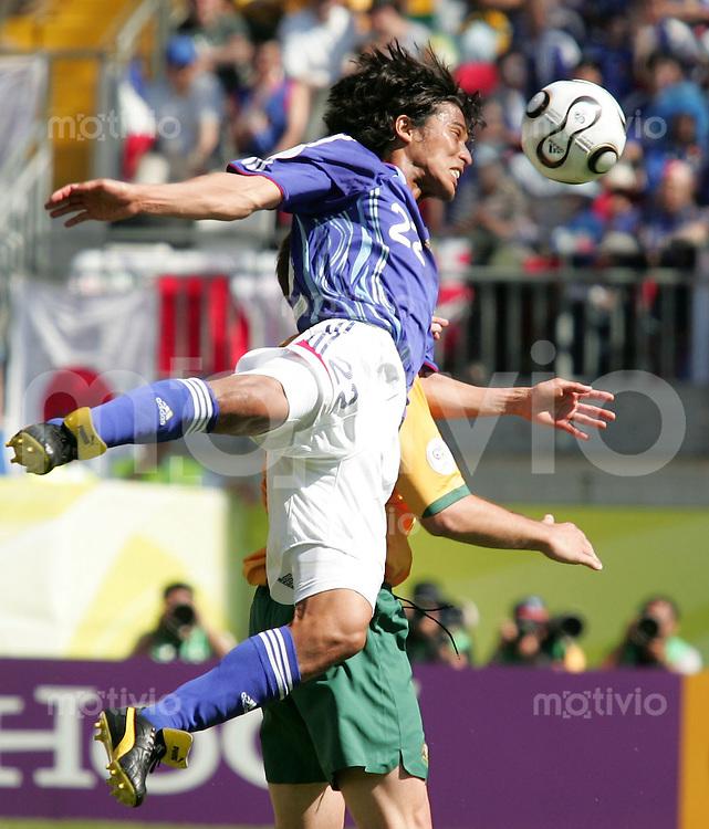 Fussball  International WM2006  Vorrunde Australien-Japan Yuji Nakazawa (JAP)
