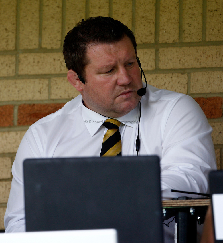 Photo: Richard Lane/Richard Lane Photography. London Wasps v Leicester Tigers. 11/09/2011. Wasps' Director of Rugby, Dai Young.