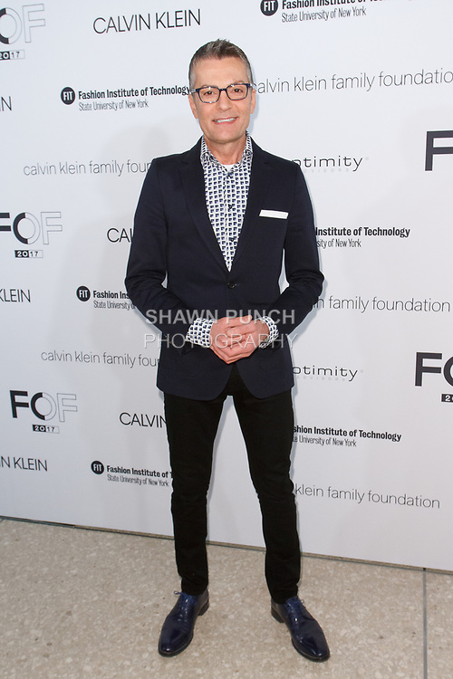 Randy Fenoli arrives at the Future of Fashion 2017 runway show at the Fashion Institute of Technology on May 8, 2017.