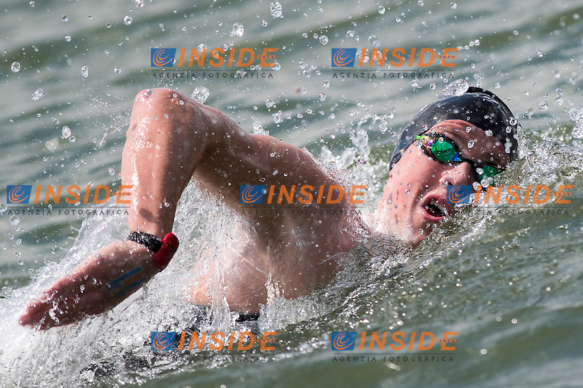 HUGHES Caleb GBR bronze medal<br /> Hoorn, Netherlands <br /> LEN 2016 European Open Water Swimming Championships <br /> Open Water Swimming<br /> Men's 5km<br /> Day 02 12-07-2016<br /> Photo Giorgio Perottino/Deepbluemedia/Insidefoto