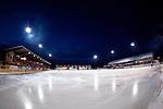 Bollnäs 2013-02-17 Bandy SM-kvartsfinal , Bollnäs GIF - Edsbyns IF :  .Genrell vy över planen på Sävstaås IP under match.(Byline: Foto: Kenta Jönsson) Nyckelord:  utomhus exteriör exterior vy