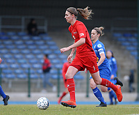 20191221 - WOLUWE: Woluwe's Marie Bougard in action during the Belgian Women's National Division 1 match between FC Femina WS Woluwe A and KAA Gent B on 21st December 2019 at State Fallon, Woluwe, Belgium. PHOTO: SPORTPIX.BE | SEVIL OKTEM