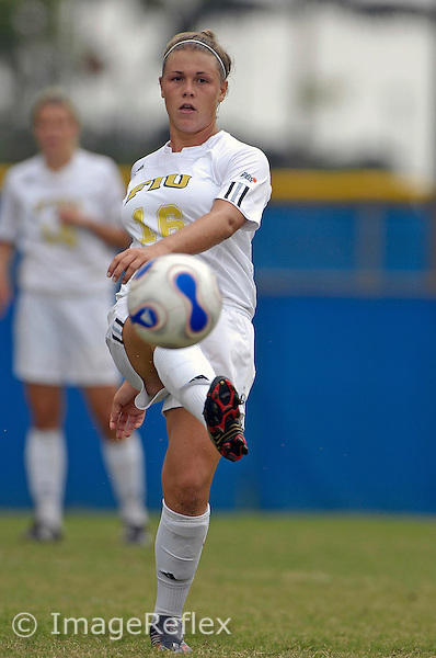 Marina  Pappas (16) plays for FIU against Louisiana-Lafayette on October 14, 2007. The game ended in a scoreless tie after two overtime periods..
