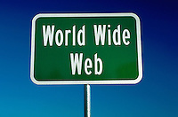 Highway sign for the World Wide Web