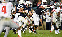 STATE COLLEGE, PA - SEPTEMBER 29: Penn State QB Trace McSorley (9) runs up the middle. The Ohio State Buckeyes defeated the Penn State Nittany Lions 27-26 on September 29, 2018 at Beaver Stadium in State College, PA. (Photo by Randy Litzinger/Icon Sportswire)