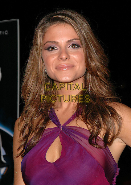 "MARIA MENOUNOS.The premiere of ""The Fantastic 4"" on Liberty Island in new York Harbor, New York, New York..July 6th, 2005.Photo Credit: Patti Ouderkirk/AdMedia.headshot portrait purple halterneck dress .www.capitalpictures.com.sales@capitalpictures.com.© Capital Pictures."