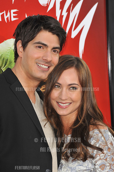 "Brandon Routh & wife Courtney Ford at the world premiere of his new movie ""Scott Pilgrim vs. The World"" at Grauman's Chinese Theatre, Hollywood..July 27, 2010  Los Angeles, CA.Picture: Paul Smith / Featureflash"