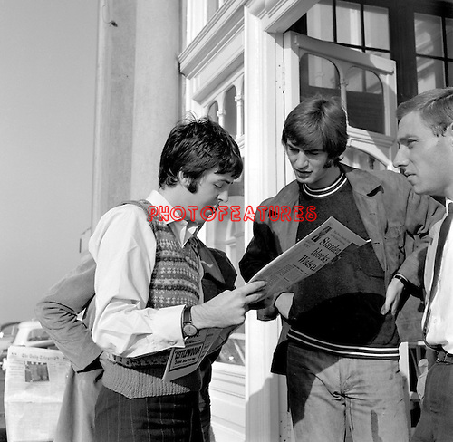 The Beatles 1967 Paul McCartney during filming of Magical Mystery Tourat Atlantic Hotel in Newquay in Cornwall.© Chris Walter.