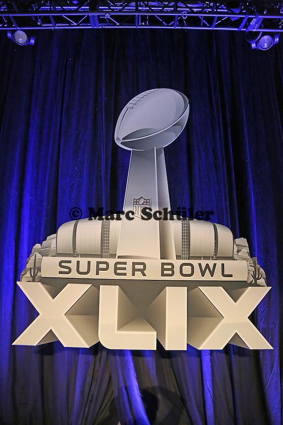 Super Bowl XLIX Logo - Entertainment Pressekonferenz, Convention Center Phoenix