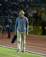 Head coach Juergen Klinsmann looks on as the United States played Guatemala at Estadio Mateo Flores in Guatemala City, Guatemala in a World Cup Qualifier on Tue. June 12, 2012.
