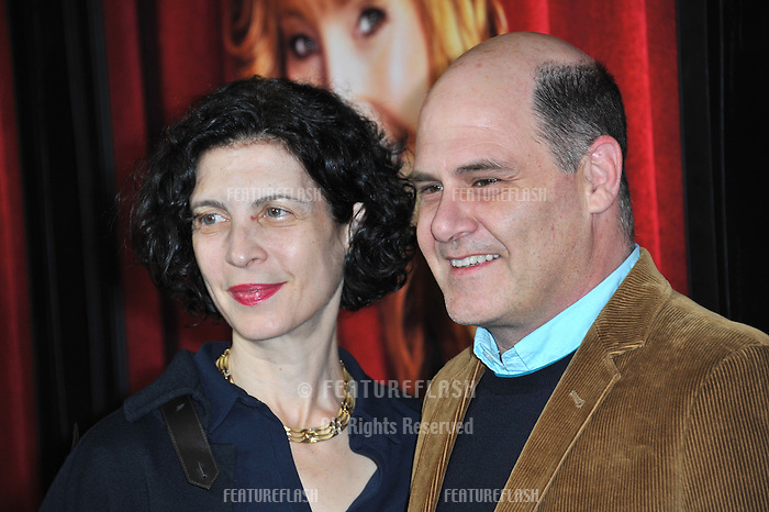 "Matthew Weiner & wife Linda Brettler at the premiere of HBO TV series ""The Comeback"" at the El Capitan Theatre, Hollywood.<br /> November 5, 2014  Los Angeles, CA<br /> Picture: Paul Smith / Featureflash"