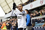 Leon Clarke of Sheffield United waves to the fans before the start of the championship match at The Den Stadium, Millwall. Picture date 2nd December 2017. Picture credit should read: Robin Parker/Sportimage
