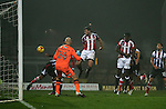 Jack O'Connell of Sheffield Utd scores during the Checkatrade Trophy match at Blundell Park Stadium, Grimsby. Picture date: November 9th, 2016. Pic Simon Bellis/Sportimage