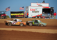 Apr 17, 2011; Surprise, AZ USA; LOORRS driver Jacob Person (92) leads Casey Currie (2) during round 4 at Speedworld Off Road Park. Mandatory Credit: Mark J. Rebilas-