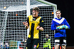 S&ouml;dert&auml;lje 2014-04-07 Fotboll Superettan Assyriska FF - Hammarby IF :  <br /> Hammarbys Jan Gunnar Solli reagerar efter en missad m&aring;lchans<br /> (Foto: Kenta J&ouml;nsson) Nyckelord:  Assyriska AFF S&ouml;dert&auml;lje Hammarby HIF Bajen skada skadan ont sm&auml;rta injury pain