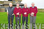 Captain's Day : Compeeting in the Captain's Day event at Ballybunio Golf Club on Saturday last were Batt O'Keeffe, Vice Captain, Sean Kennelly Comprtions secretary, Brendan Daly Captain & Mike Barry.