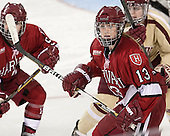 Kalley Armstrong (Harvard - 13) - The Boston College Eagles defeated the visiting Harvard University Crimson 3-1 in their NCAA quarterfinal matchup on Saturday, March 16, 2013, at Kelley Rink in Conte Forum in Chestnut Hill, Massachusetts.