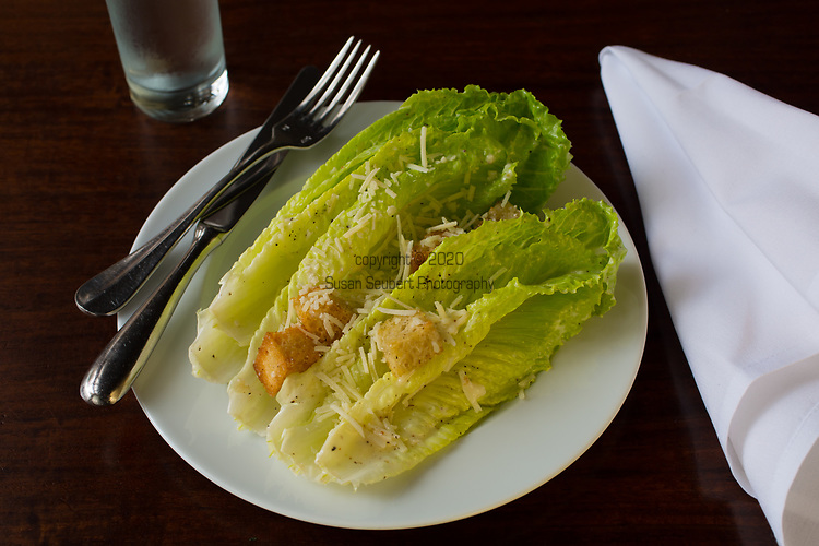 The Caesar Salad at Castagna Cafe in Portland, Oregon