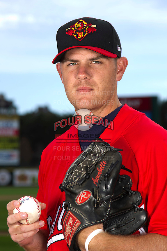 Rochester Red Wings pitcher P.J. Walters #25 poses for a photo during media day at Frontier Field on April 3, 2012 in Rochester, New York.  (Mike Janes/Four Seam Images)