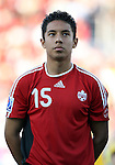 01 July 2007: Canada's Christian Nunez. At the National Soccer Stadium, also known as BMO Field, in Toronto, Ontario, Canada. Chile's Under-20 Men's National Team defeated Canada's Under-20 Men's National Team 3-0 in a Group A opening round match during the FIFA U-20 World Cup Canada 2007 tournament.