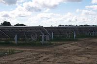 Rear view of Solar Farm installation