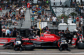 2017 Verizon IndyCar Series - Firestone Grand Prix of St. Petersburg<br /> St. Petersburg, FL USA<br /> Sunday 12 March 2017<br /> Mikhail Aleshin pit stop<br /> World Copyright:Sam Cobb/LAT Images<br /> ref: Digital Image cobb-stpete-170312-4426