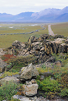 Trans Alaska Oil Pipeline, James Dalton Highway, (Haul Road) Brooks Mountain range, Arctic, Alaska