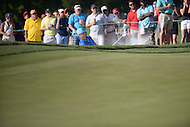 Gainesville, VA - August 2, 2015:  Kevin Chappell hits out of the sand on the 16th hole at the Robert Trent Jones Golf Club in Gainesville, VA. August 2, 2015.  (Photo by Philip Peters/Media Images International)